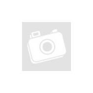 Karácsonyi asztali LED dekor - fényes talppal - csizma - lila - 15 cm